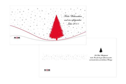 Weihnachtskarten für Fuchs Metalltechnik