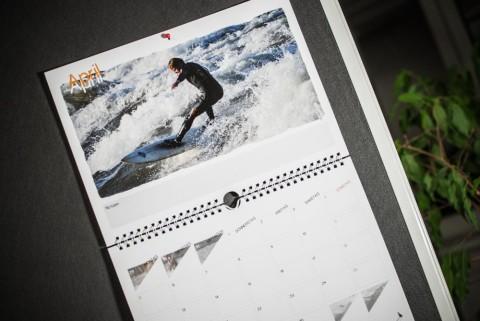 SURFHUND Riversurf Kalender