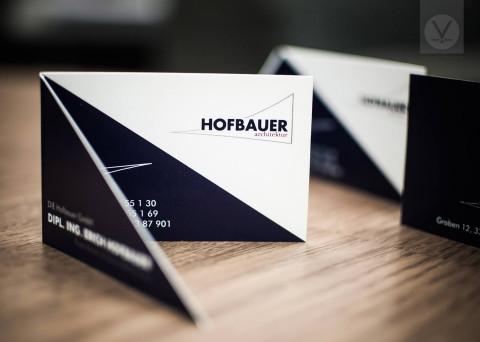 Visitenkarten für DIE Hofbauer GmbH