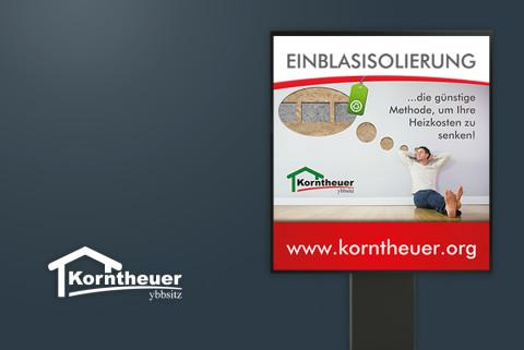 Werbeplakt für Korntheuer