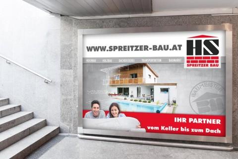 Plakatwand für Bauunternehmen