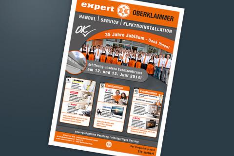 Plakat für Firmenjubiläum