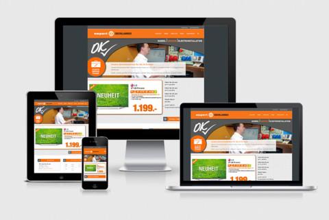 Responsiv optimierte Webseite für Expert Oberklammer
