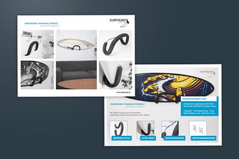 Produktdatenblatt für Surfboardhalter