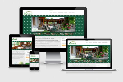 Neue responsivfähige Website für das Gasthaus Kummer