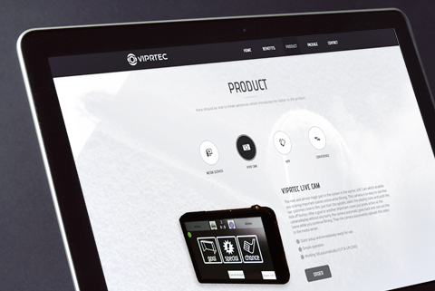 Screendesign für VIPRTEC